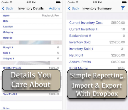 Inventory Now inventory management app