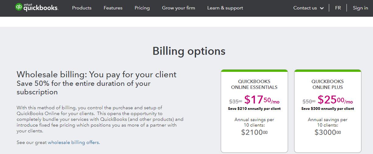 Quickbooks Billing Option 1