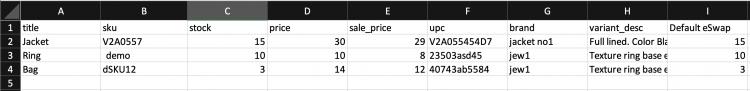 eSwap product sample demo